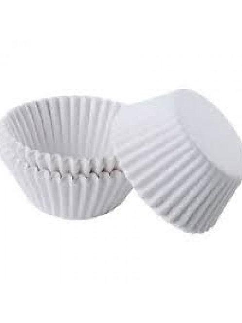 WHITE MINI CUPCAKE LINERS