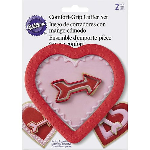WILTON COMFORT GRIP HEART & ARROW COOKIE CUTTER SET