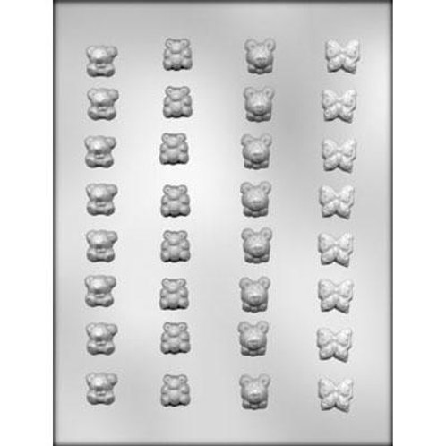 "BEAR / BUTTERFLY ¾"" CHOCOLATE MOLD"