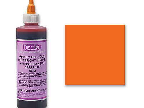 NEON BRIGHT ORANGE DECOPAC PREMIUM GEL COLOR