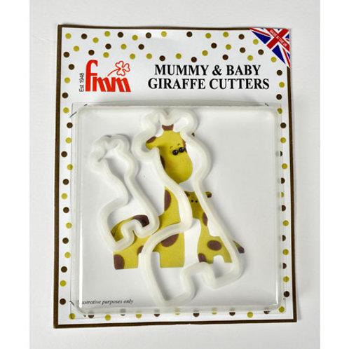 FMM Mum & Baby Giraffe Cutter set