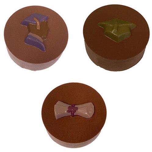 ASSORTED GRADUATION ROUND SANDWICH COOKIE CHOCOLATE MOLD