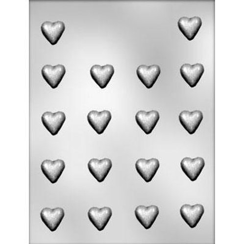 "PLAIN MINI HEART 7/8"" CHOCOLATE MOLD"