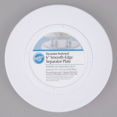 "copy of WILTON DECORATOR PREFERRED 6"" SMOOTH EDGE PLATE"