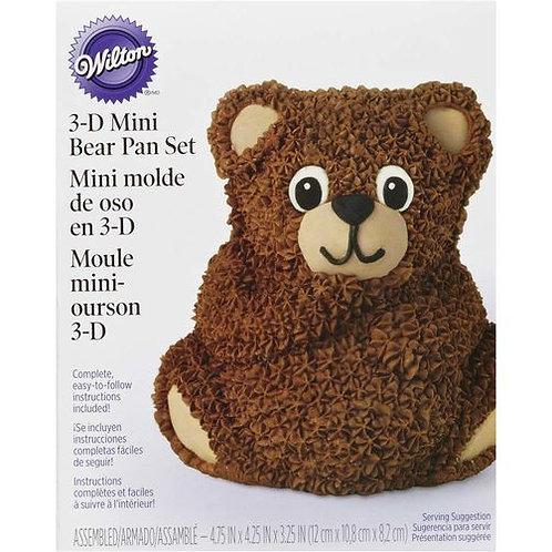 WILTON 3D MINI TEDDY BEAR CAKE PAN