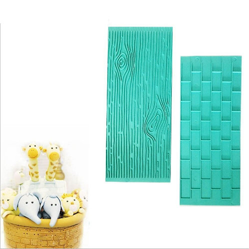Wood Brick Wall Silicone Fondant Sugarpaste Mold