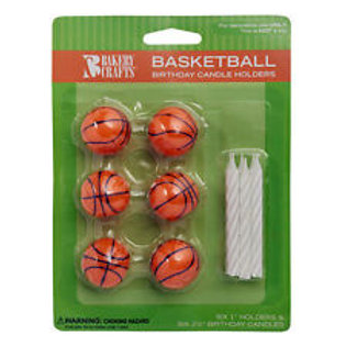 BASKETBALL BIRTHDAY CANDLE HOLDERS