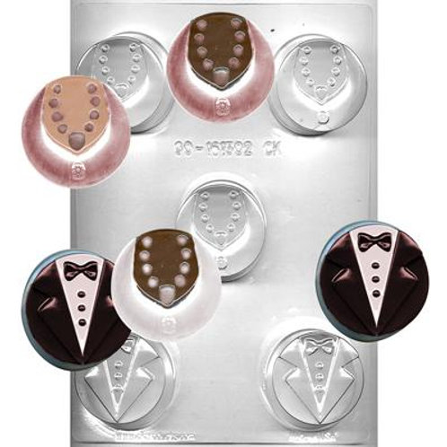 TUX & DRESS SANDWICH COOKIE CHOCOLATE MOLD