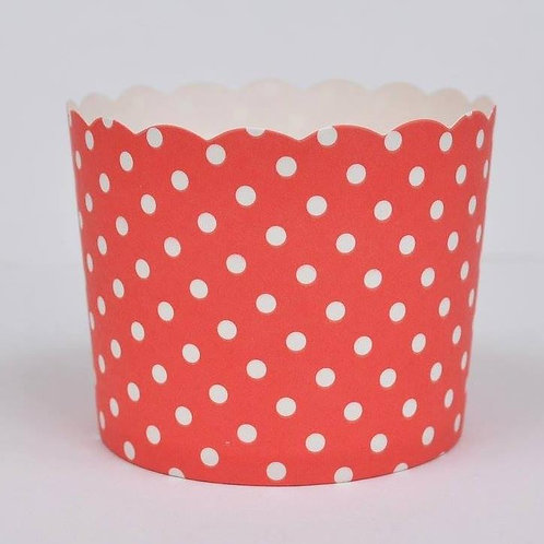 BAKE IN CUPS-Small PINK Polka Dot
