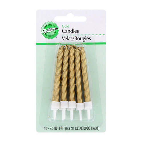 WILTON GOLD CANDLES