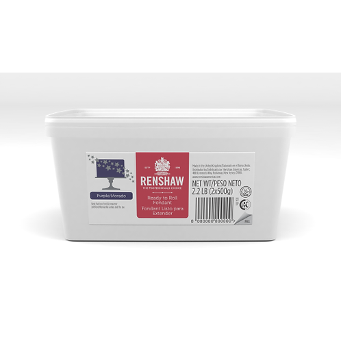 RENSHAW PURPLE READY TO ROLL FONDANT ICING 2.2LB