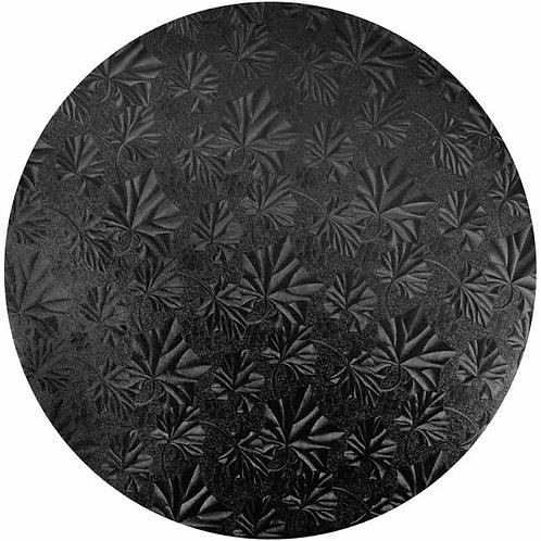 "14"" Black wraparound Cake Board"