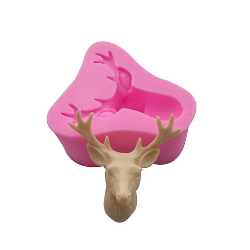 3D REINDEER SILICONE MOLD