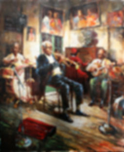 Preservation Hall Jazz Painting