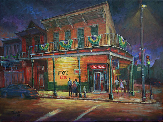 Ms. Mae's Bar, New Orleans, Acrylic painting by John Turner