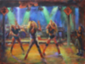 Big Freedia at Tipitina's, Acrylic painting by John Turner
