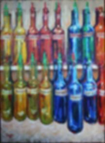 Sno=ball syrups, New Orleans, acrylic painting by John Turner