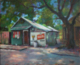 Snake and Jake's Christmas Club Lounge, New Orleans, Acrylic Painting by John Turner
