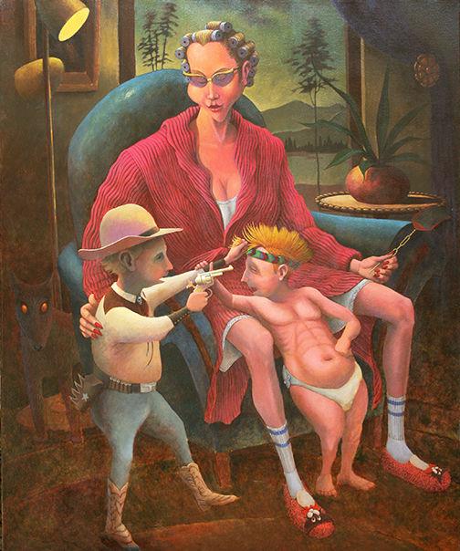 """""""Madonna of Family Values"""", Acrylic"""