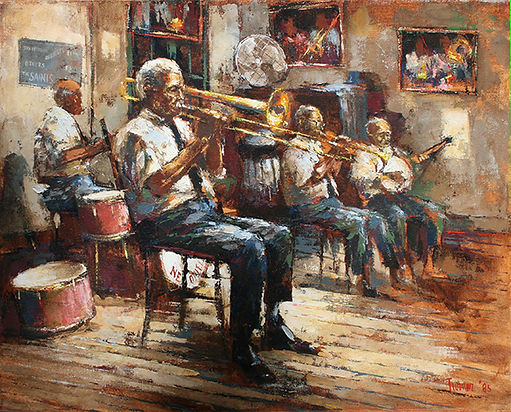 Preservation Hall Jazz Painting