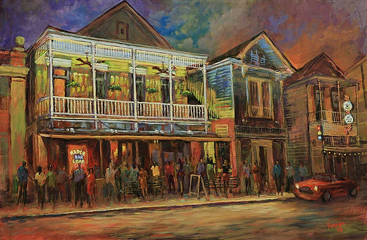 Maple Leaf Bar, New Orleans, Acrylic painting by John Turner