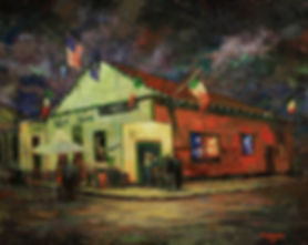 Parasol's bar, New Orleans, Acrylic painting by John Turner