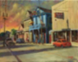 Oak Street, New Orleans, Acrylic Painting, by John Turner