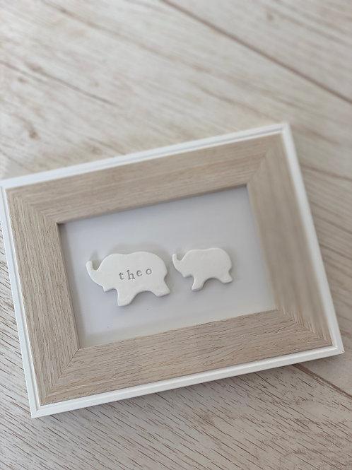 Elephant nursery frame