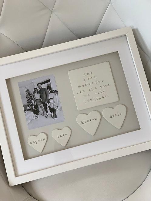 Family memories frame