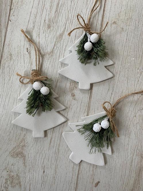 Christmas tree with foliage decoration