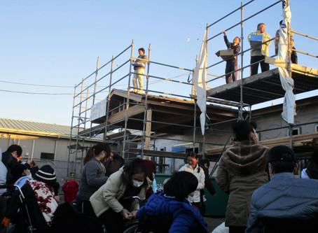 地域共生ホームの構造見学会と上棟式開催