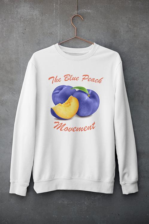 Blue Peach Movement Crew Neck Sweater