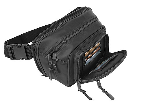 Compact Leather Waist Pack