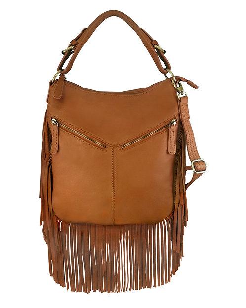 Leather Fringe Concealment Crossbody Bag