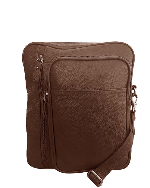 Large  Square Leather Satchel