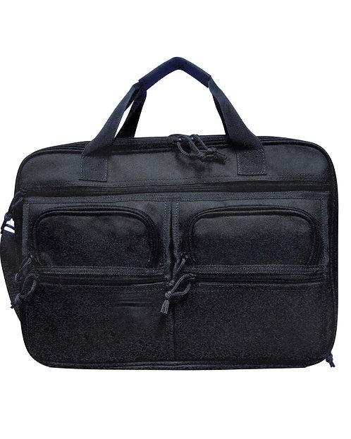 Black Tactical Concealment Briefcase Front View