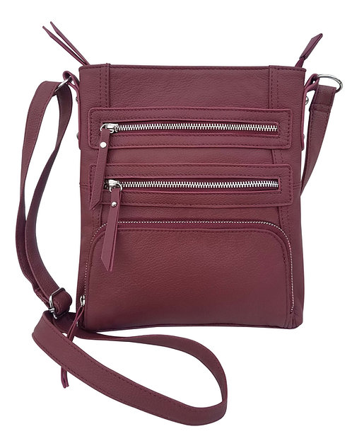 Triple Pocket Crossbody Bag