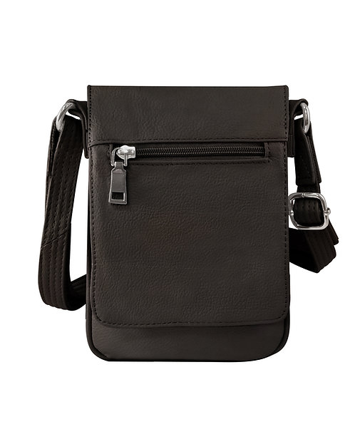 Large Vertical Leather Concealment Crossbody Bag