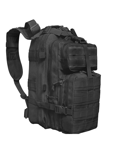 Black Tactical Backpack Front View