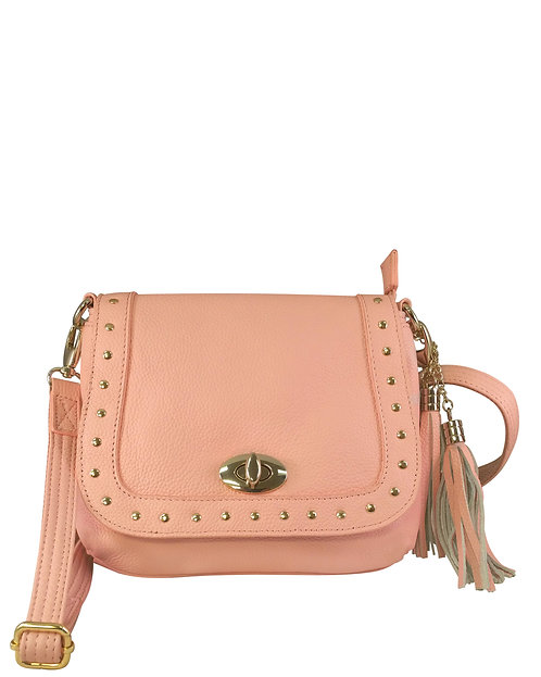 Studded Western Leather Concealment Bag