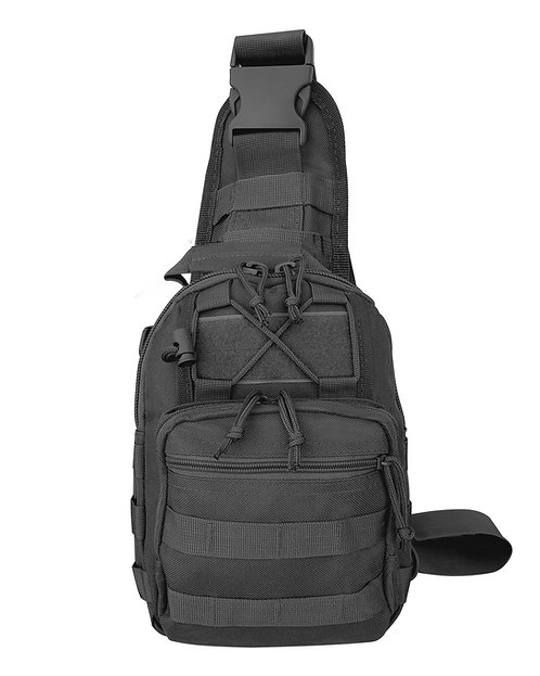 Black Nylon Tactical Go Pack Front View