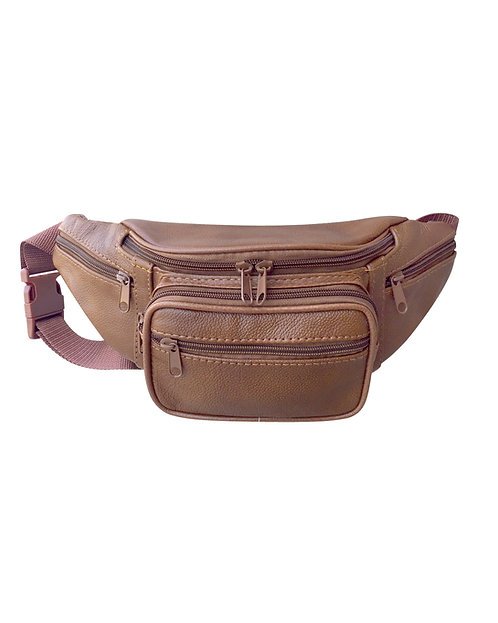 Tech Pocket Cowhide Fanny Pack