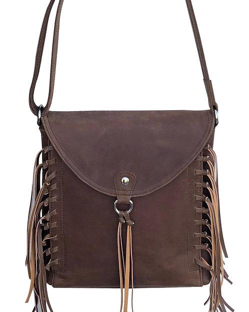 Western Leather Fringe Crossbody Bag