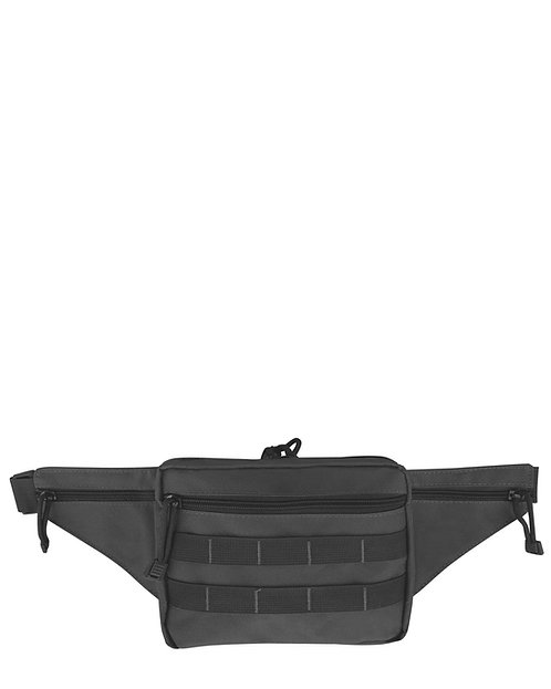 Black Nylon Waist Pack Front View