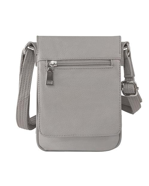 Large Vertical Leather Concealment Crossbody Bag