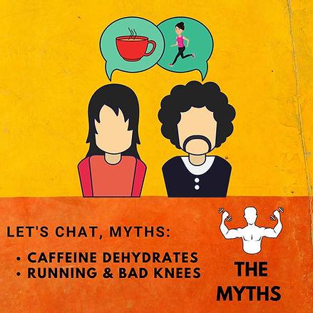 caffeine dehydrates, running & bad knees
