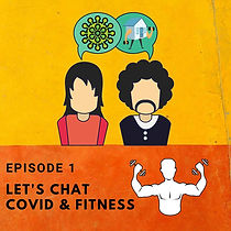 podcast, covid and fitness, logo.jpg