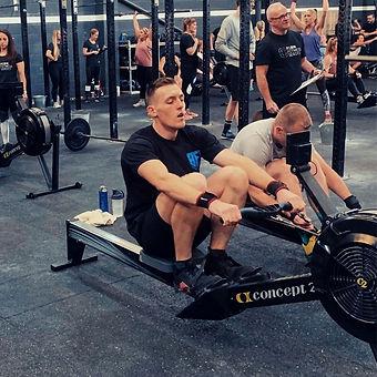 Train Primal Coach Bill on Rowing Machin