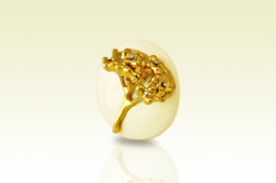 Golden Verbena Brooch