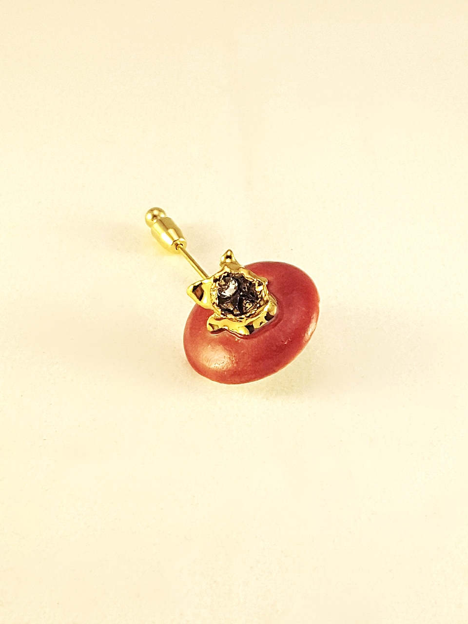 Gold Raspberry Brooch Pin